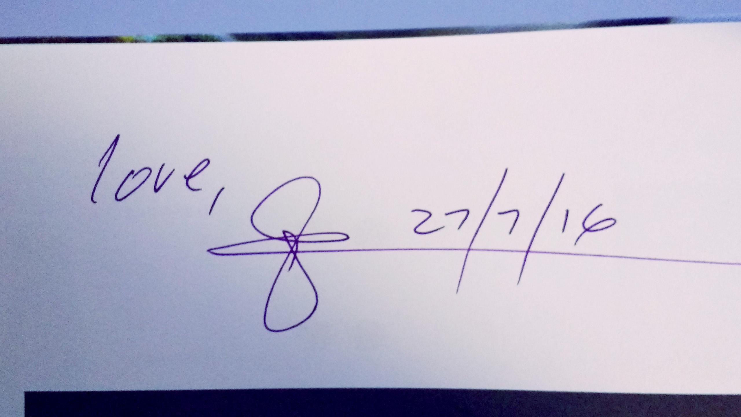 Glenn Zucman's signature